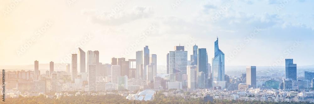 Fototapeta Modern cityscape, panoramic background