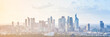 canvas print picture - Modern cityscape, panoramic background