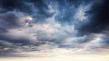 Colorful Dramatic Sky With Dar...