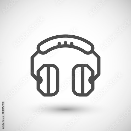 Fotografia, Obraz  Headphones line icon