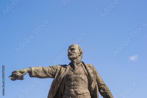 Deurstickers Afrika lenin monument soviet