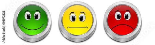 Photo  Voting Buttons - 3D illustration