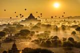 Fototapeta Na ścianę - Scenic sunrise above Bagan in Myanmar