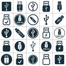Usb Flash 3.0 Icon Set Transpa...