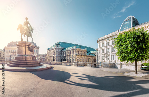 fototapeta na lodówkę Vienna State Opera, view from Albertina, Vienna, Austria