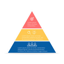 Pyramid For Infographics. Vect...
