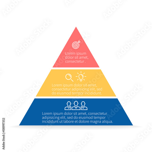 Pyramid for infographics Canvas Print