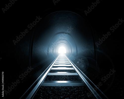 Light at the End of the Tunnel (3D Render) Fototapeta