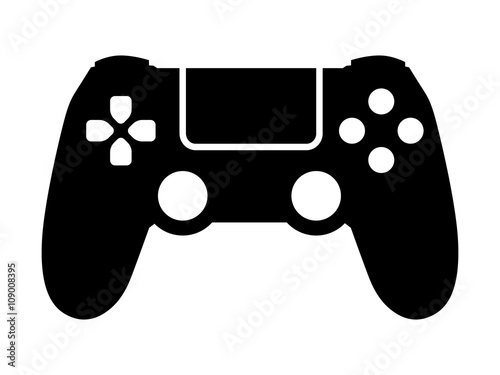 Fotografie, Obraz  Video game controller / gamepad flat icon for apps and websites