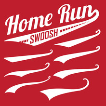 Vector Swooshes Swishes, Swooshes, And Swashes For Typography On Retro Or Vintage Baseball Tail Tee Shirt
