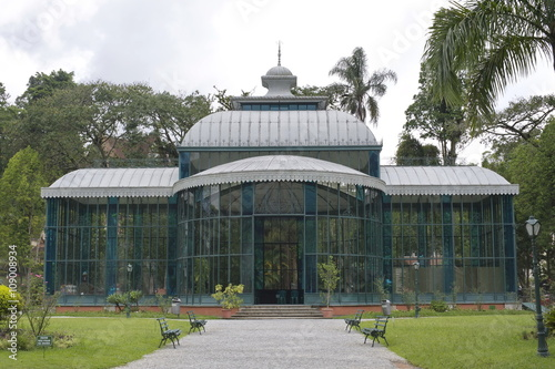 Photo  Petropolis Crystal Palace is a glass-and-steel structure with impressive chandeliers that was originally intended as a ballroom