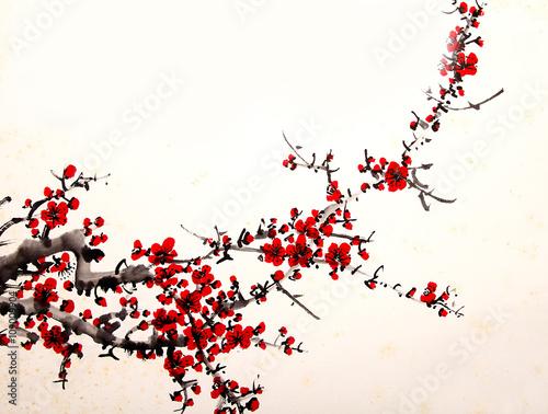 malowane-kwiaty-wisni