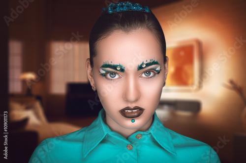 Photo  Woman art make up