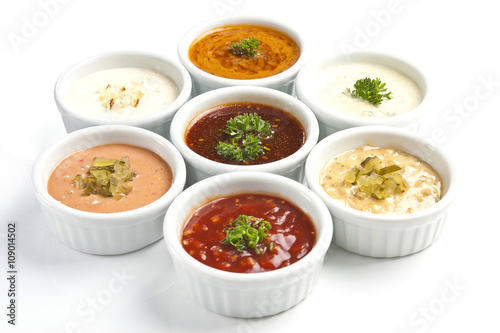 Photo  oriental cuisine - sauce with and seasonings
