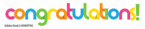Valokuva  CONGRATULATIONS Colourful Vector Letters Banner