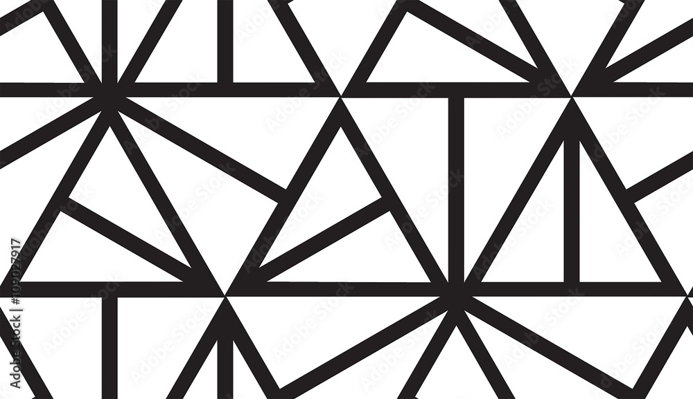Vector geometric seamless pattern. Repeating abstract lines in b