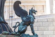 Bronze Statue Of Griffin, Vien...
