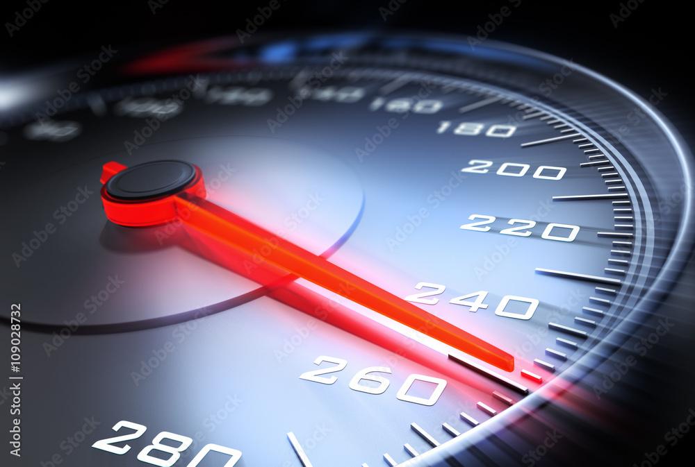Fototapeta Speed-Tachometer