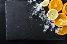 Slices Of Orange And Limon