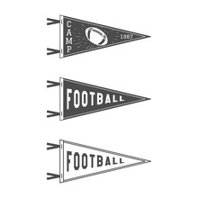 College Football Pennant Flags...
