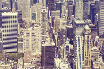 Naklejka Vintage stylized picture of Manhattan, New York City.