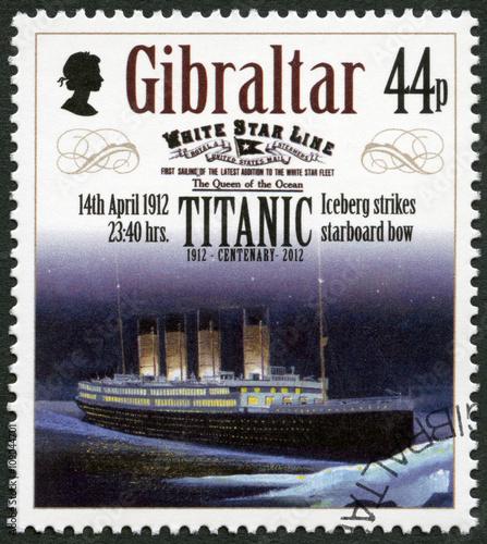 Fotografie, Obraz  GIBRALTAR - 2012: shows Iceberg strikes starboard bow