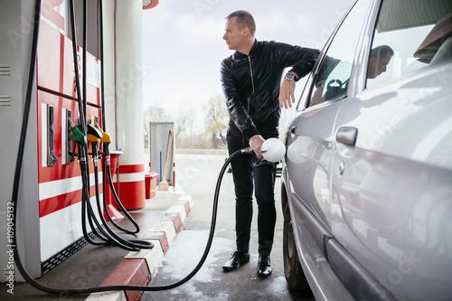 Obraz na płótnie At Gas Station