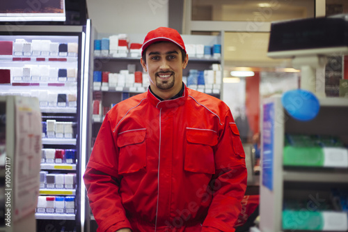 Fotografie, Obraz  Male Worker At Store