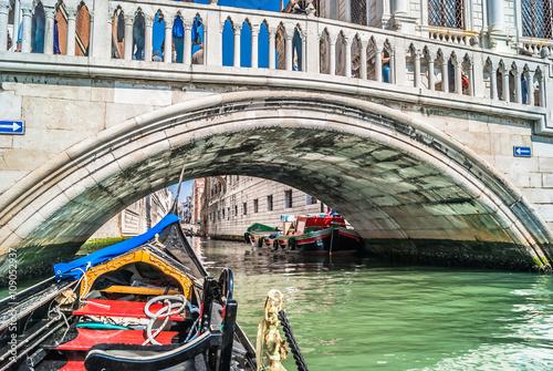 Leinwand Poster  Gondola Venice Italy