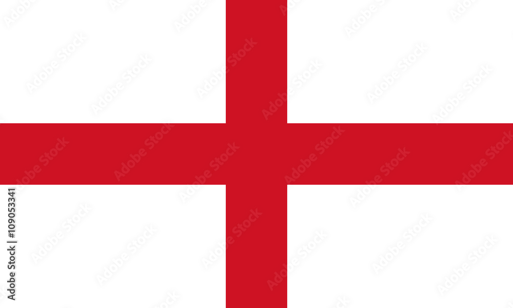 Fototapety, obrazy: England Flag,  English flag, Flag of England standard proportion in color mode RGB
