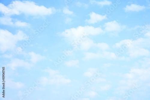 Fotografie, Obraz  Light sky and clouds