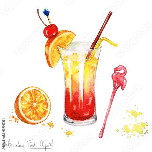 Watercolor Food Clipart - On The Beach – kaufen Sie diese ... on