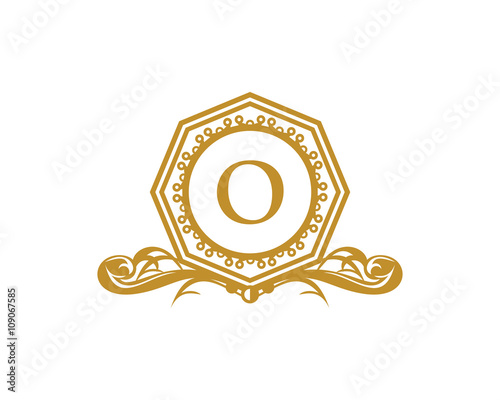 Royal Hexagon Letter O Logo Buy This Stock Vector And Explore
