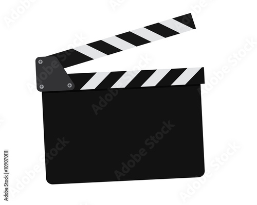 Photo Movie clapperboard on a white