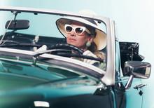 Woman In Retro 1960s Fashion W...