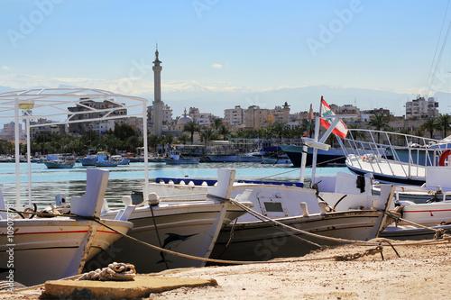 Sea port in Tripoli, Lebanon.
