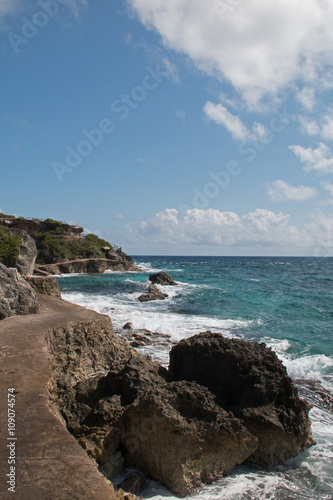 Fotografie, Obraz  Isla Mujeres (island of the women - Mexican island) - Looking east across the Ca