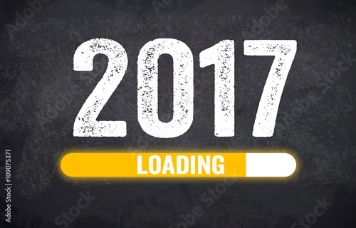 Glücksklee, Klee, Silvester, Glücksbringer, Willkommen 2017 Poster