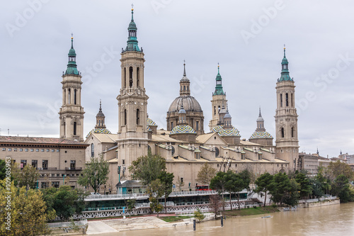 Basilica of Our Lady of Pillar in Zaragoza, Spain.