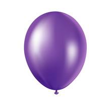 Vector Illustration Of Purple Balloon