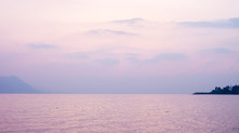 Pink Sunset Over Lake