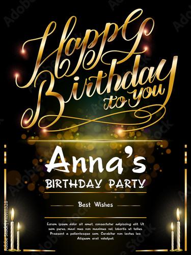 Photo  gorgeous Happy birthday poster