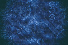 Steampunk Grunge Background, Steam Punk Elements On Dirty Back