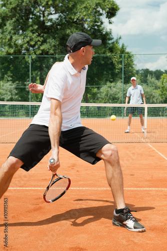 Tennis hot dog shot Tableau sur Toile