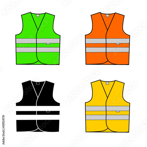 Fotografía  vest signal in vector