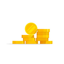 Coins Stack Vector Illustratio...