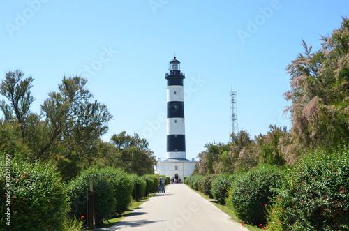 Montage in der Fensternische Leuchtturm phare de Chassiron à l'île d'Oléron