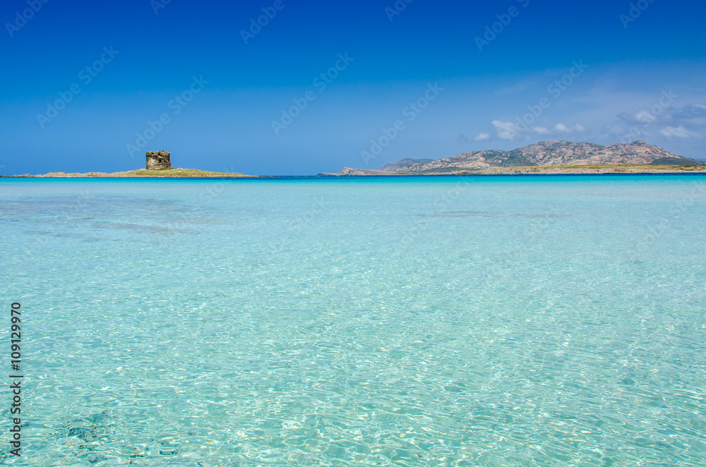 Photo  Beach Pelosa on Sardinia, Italy