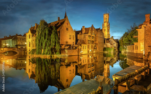Printed kitchen splashbacks Bridges Bruges Canal, Belgium