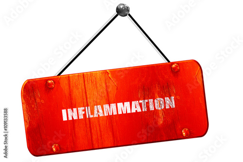Fotografie, Obraz  inflammation, 3D rendering, vintage old red sign